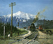 Terence Cuneo Railway Art: Steam in the Rockies - Revelstoke