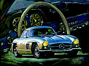 The Silver Dream - Mercedes 300 SL, 1954 - Hessel Bes