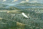 Aviation Art by Ronald Wong - Return to Kai Tak